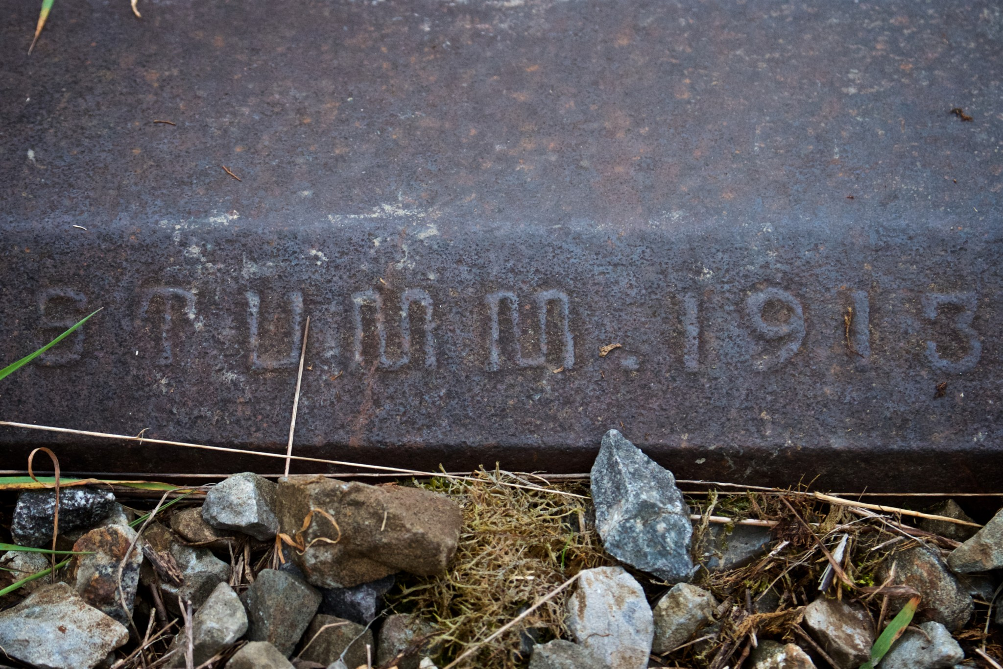 "Bahnschwelle ""Gebrüder Stumm 1913"""