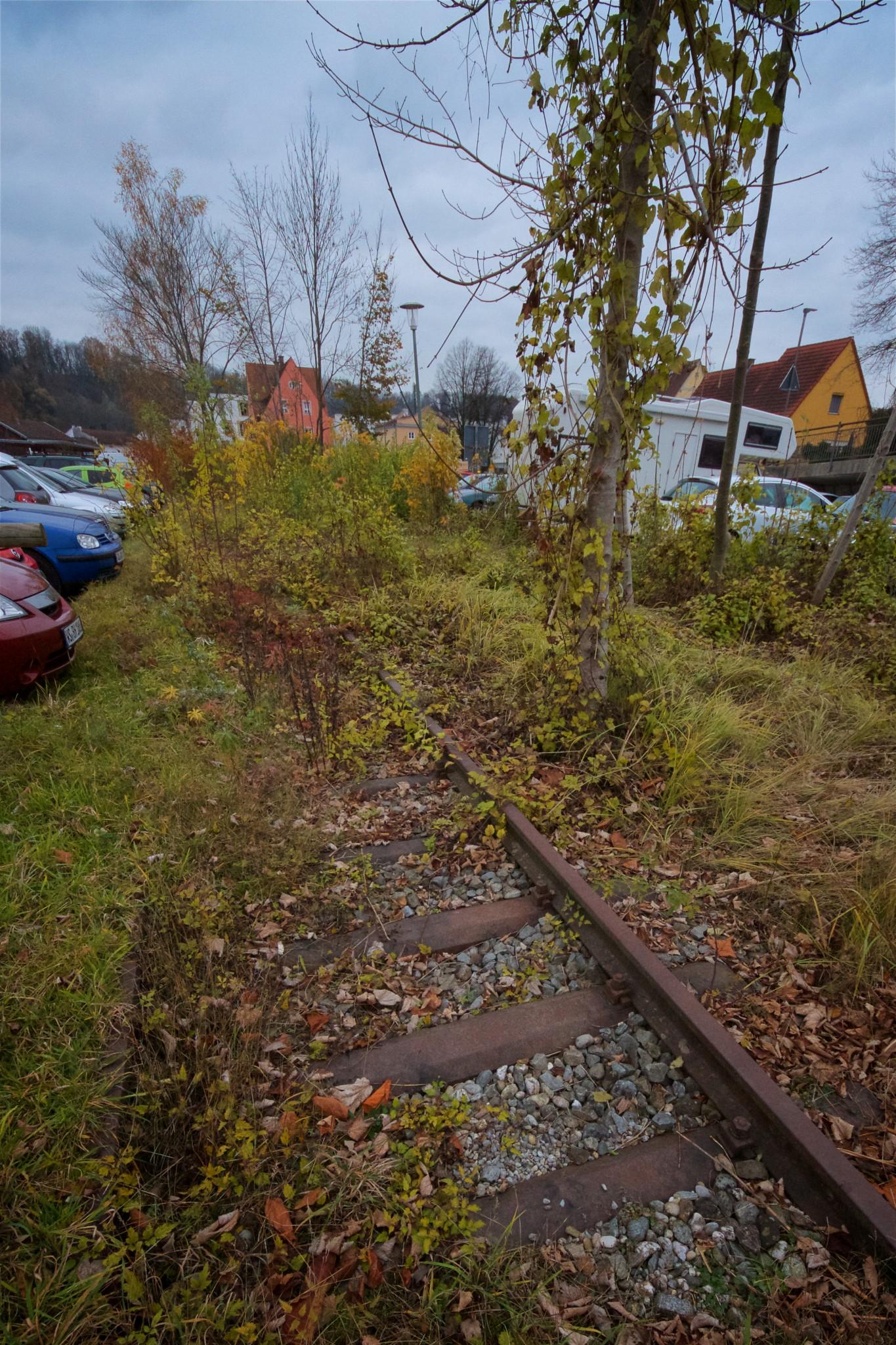 Gleise im Bahnhofbereich Altstadt Wasserburg