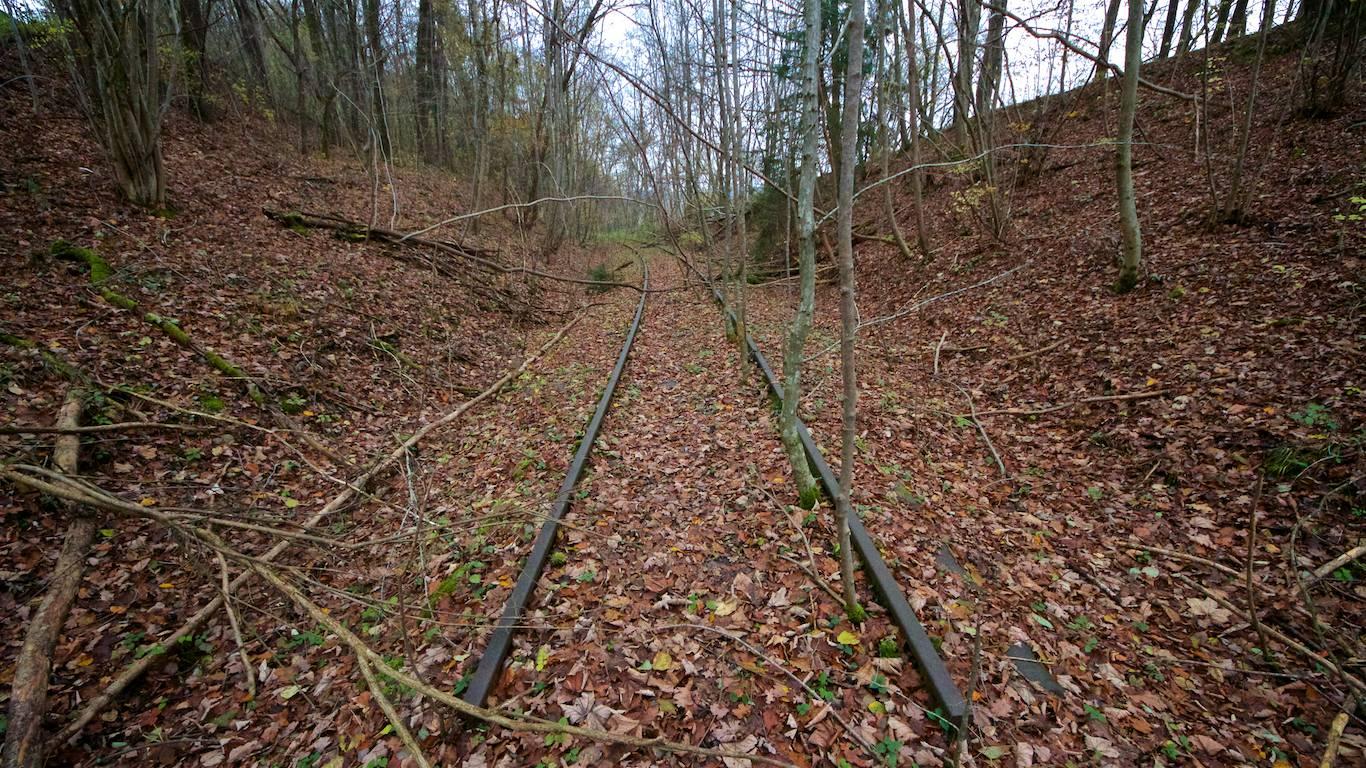 Gleise östlich des Gaberseer Grabens